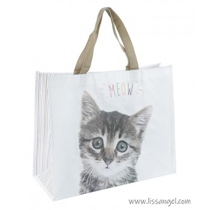 """MEOW"" Cat Shopping Bag"