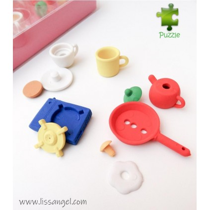 Kitchen Erasers Set - 5x Pack