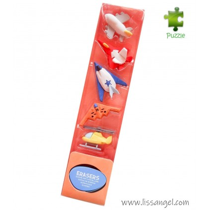 Airplanes Erasers Set - 5x Pack