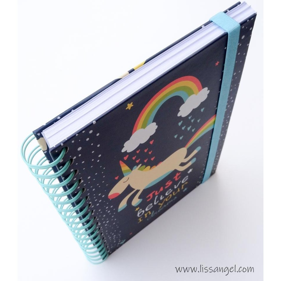 Premium Notebook Unicorn & Rainbow