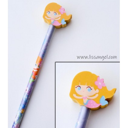 Mermaid Pencils with Erasers