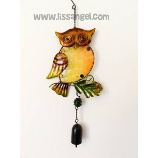 Golden One Wing Owl Wind Chime