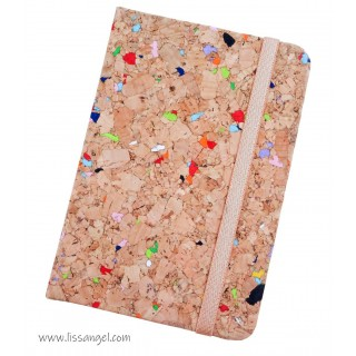 Natural Cork Notebook with Colors (A6)
