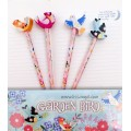 Garden Bird Pencils with Erasers