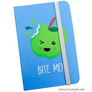 """Bite Me"" Apple Notebook (A6)"