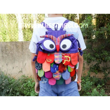 Owl Patchwork Backpack
