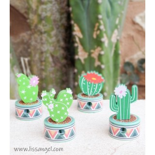 Pack Cactus Eraser and Pencil Sharpener
