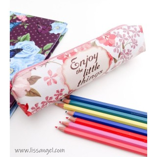 "Floral Pencil Case ""Enjoy the little things"""