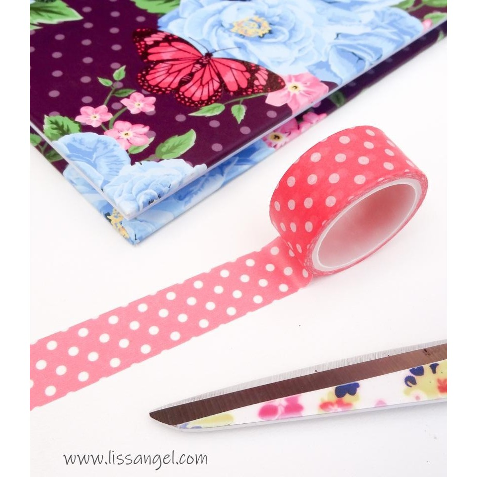 Pink Washi Tape with White Dots