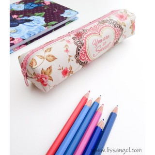 "Floral Pencil Case ""You are so Sweet"""