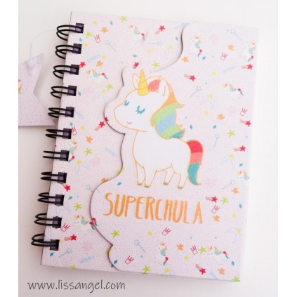 Supercool Unicorns Notebook (A6)