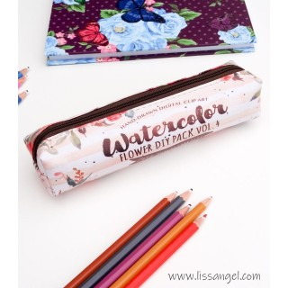 "Floral Pencil Case ""Watercolor"""