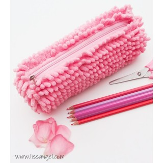 Pink Fashion Mop Pencil Case