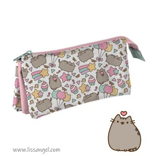 Triple Pencil Case Pusheen The Cat