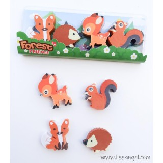 Pack 4 Gomas de Borrar Animales del Bosque