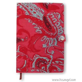 Notebook with Fabric Covers - Fire Flowers (A5)