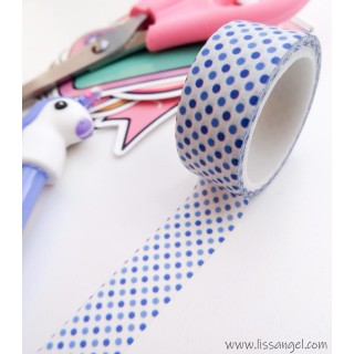 Washi Tape with Small Blue Dots