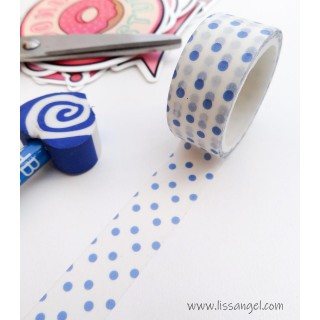 Washi Tape with Big Blue Dots