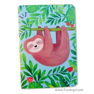 Happy Sloth Notebook (A6)