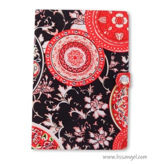 Notebook with Fabric Covers - Vintage Flowers (A5)