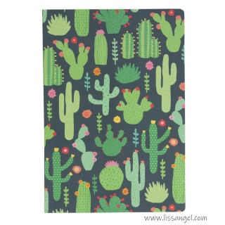 Colorful Cactus Notebook (A5)