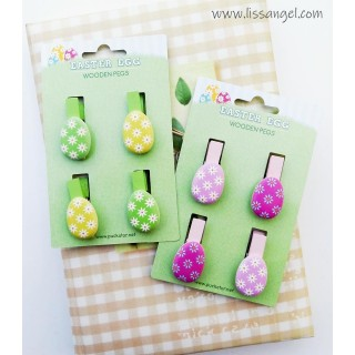 Easter Eggs Wooden Pegs