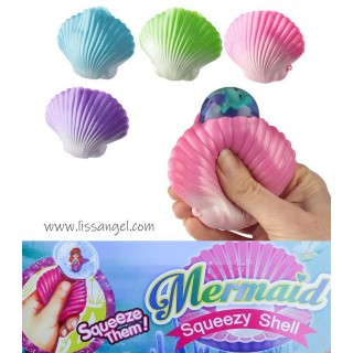 Sea Shell Squishy with Mermaid Inside