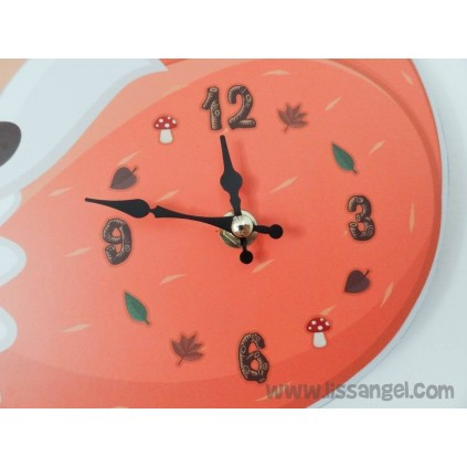Sleeping Fox Wall clock