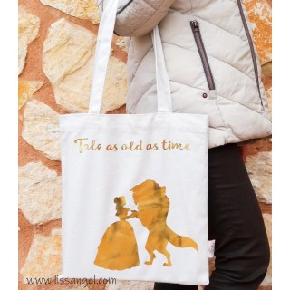 "Bolsa Shopper Tote Bag ""La Bella y la Bestia"""