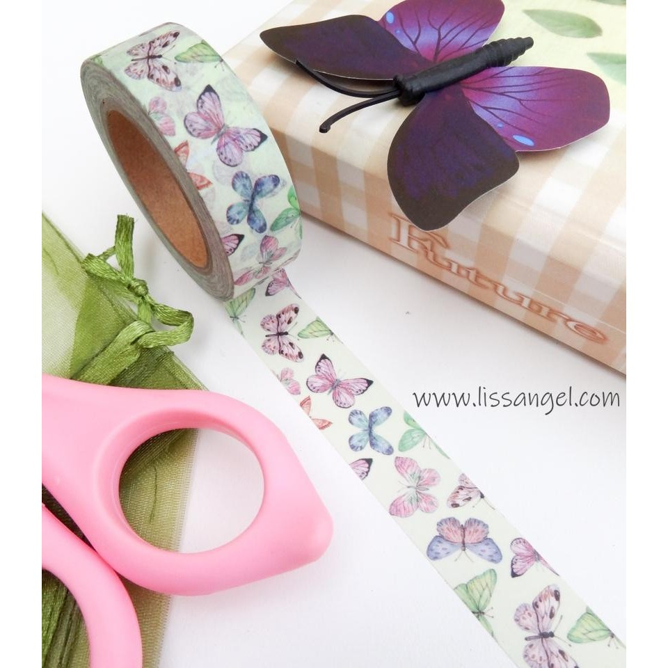 Washi Tape Mariposas Colores Pastel