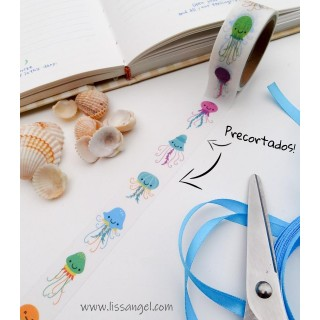 Pre-cut Washi Tape Funny Jellyfish