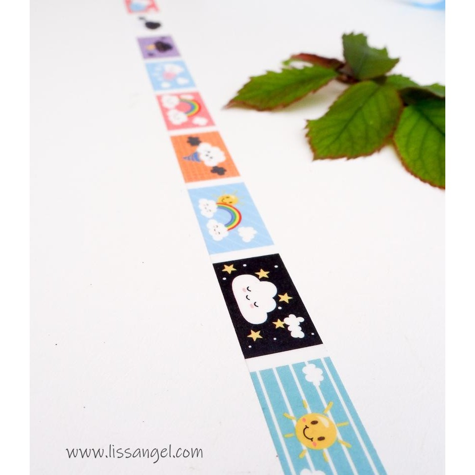 Washi Tape Precortado Tiempo Kawaii