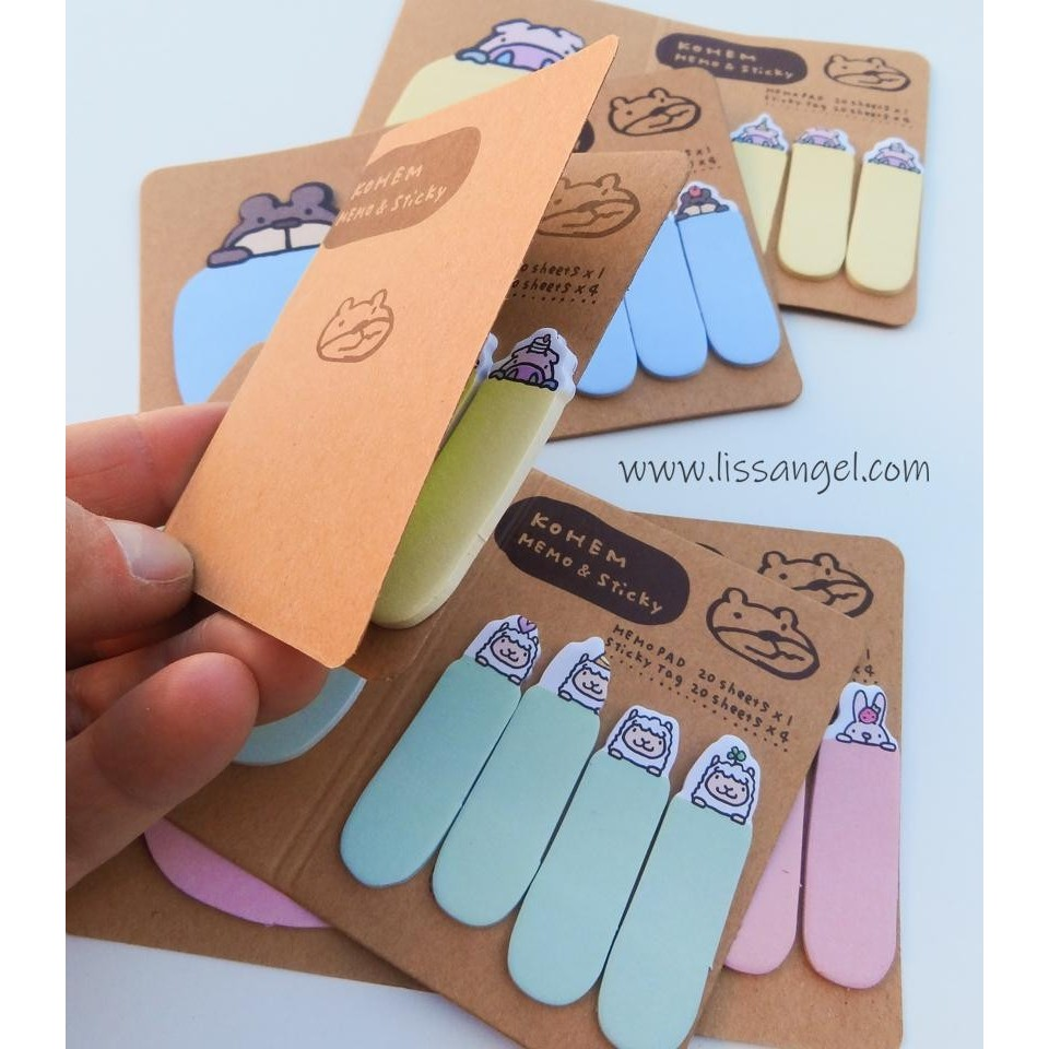 Kohem Animals Sticky Notes / Bookmarks