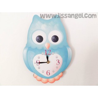 Owl Colors Wall Clock