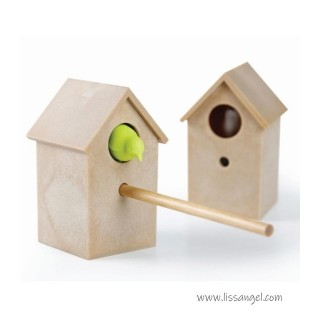 "Little House with Bird Pencil Sharpener ""Cuckoo"" by Qualy"