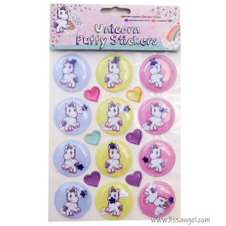 Unicorn Puffy Bubble Stickers