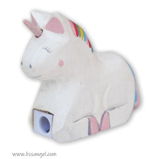Sacapuntas de madera Unicornio Betty