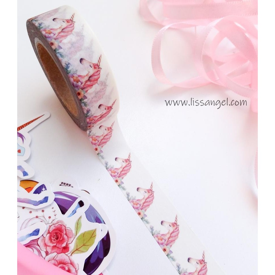 Washi Tape Unicornios Bonitos