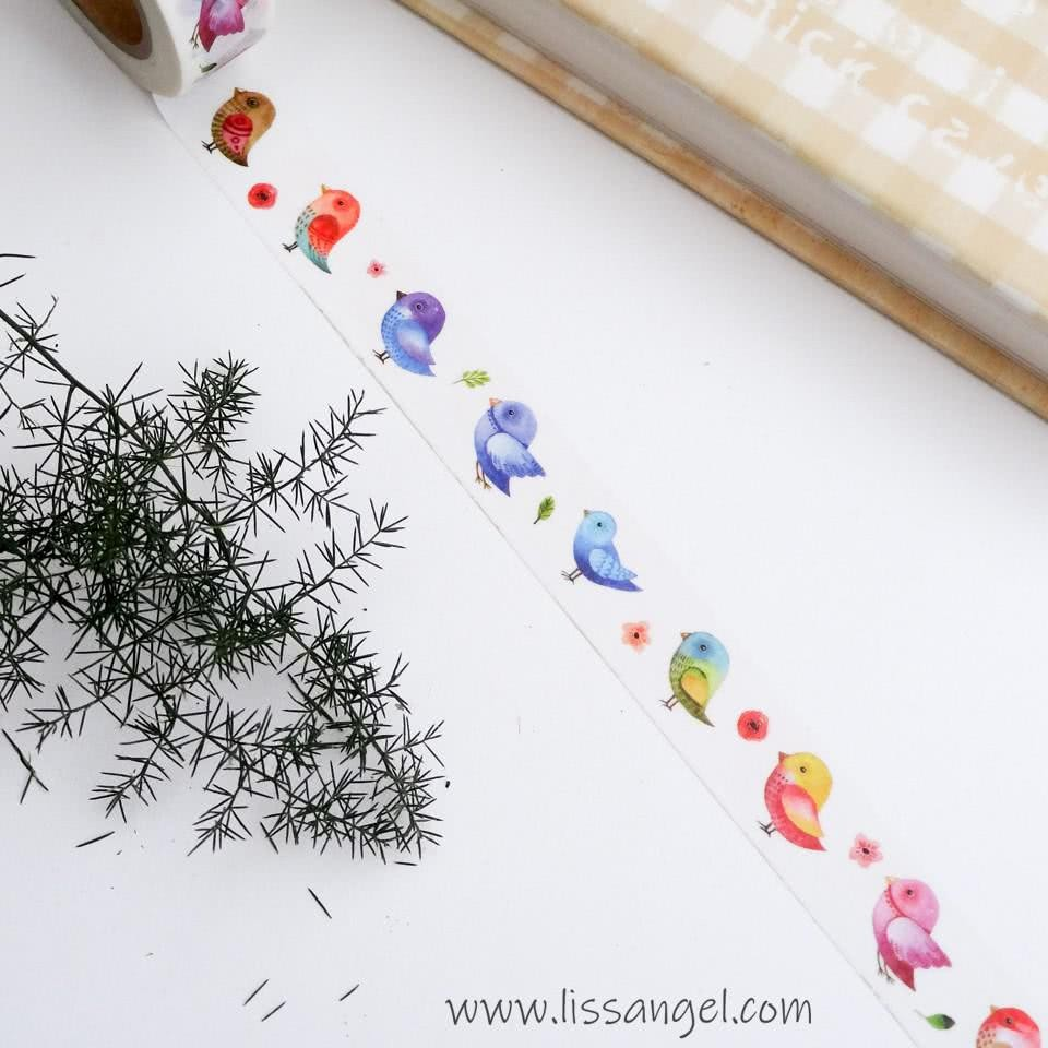 Washi Tape Colorful Birds