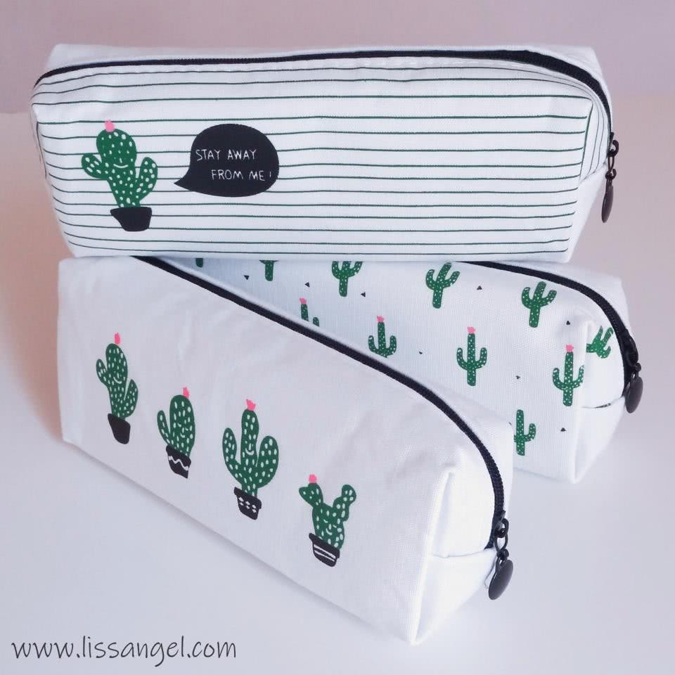 Cactus Fabric Pencil Case
