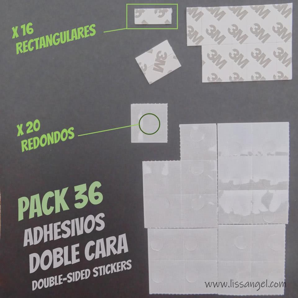 Double-sided Adhesive Stickers (36 Units Pack)
