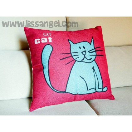 Blue Cat cushion cover (Filling optional)