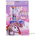 Pack 56 Reusable Stickers Emojis and Unicorns + Album