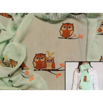 Owls in love Foulard