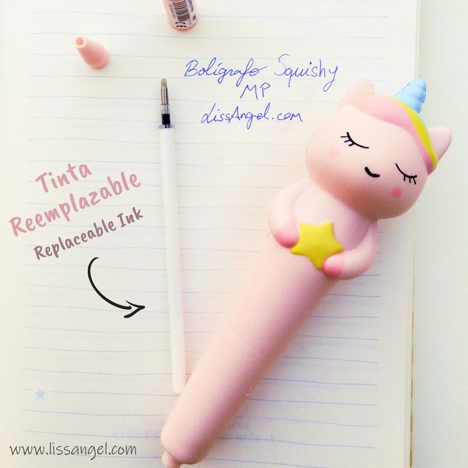 Bolígrafo Squishy MP - Unicornio con Estrella Kawaii