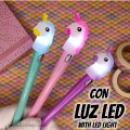 Kawaii Unicorn Pen with LED Light and Switch