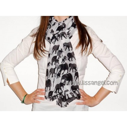 Savanna Elephants Foulard