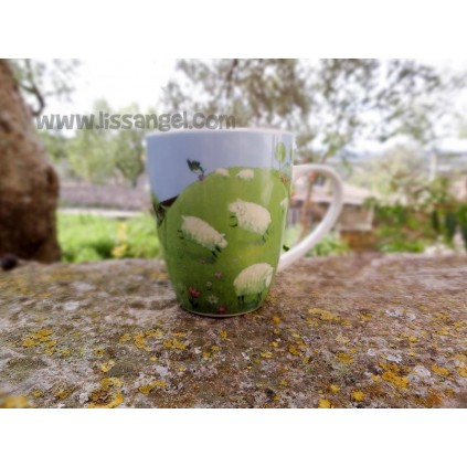 Ceramic mug Sheep in the Fields