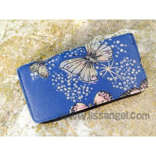 Blue fabric Butterflies Wallet