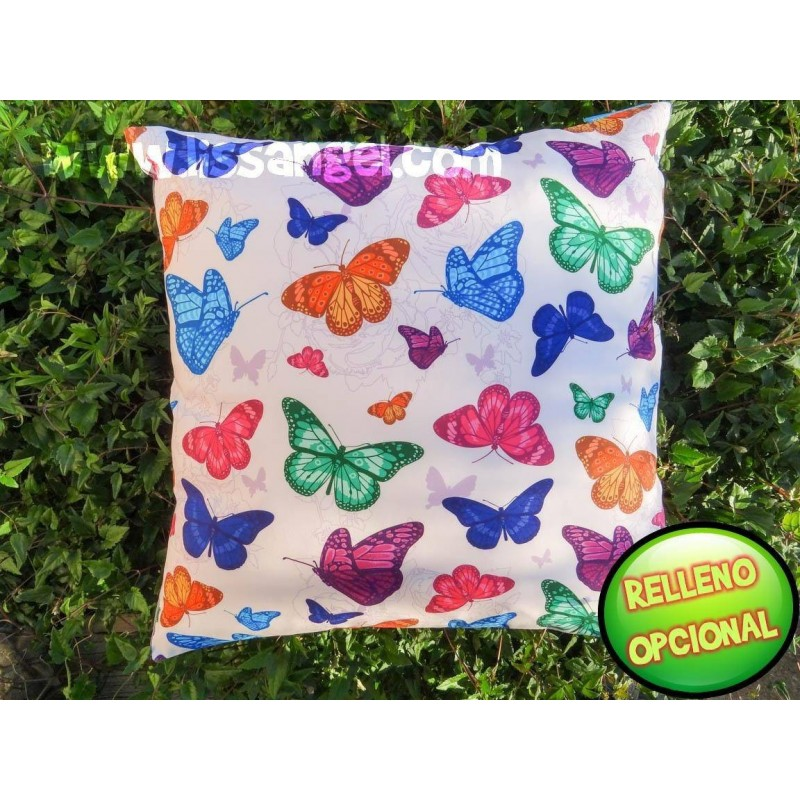Colorful Butterflies Cushion Cover (Filling optional)
